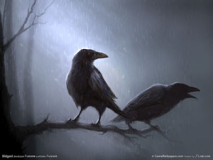 02-bird-wallpapers-amazing-crow-painted-wallpaper